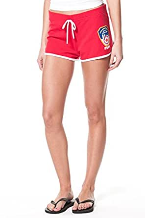 FDNY Ladies Red French Terry Short with KEEP BACK and Emblem on Front (Small)
