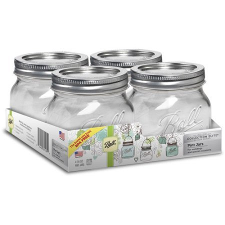 Ball Collection Elite 16-Ounce Mason Jars, 4-Pack (1)