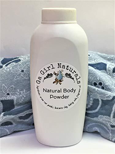CoCo Mademoiselle Type Natural Deodorizing Body Powder, Dusting Powder, Perfume Body Powder,Talc Free, 8 Ounce Shaker ()