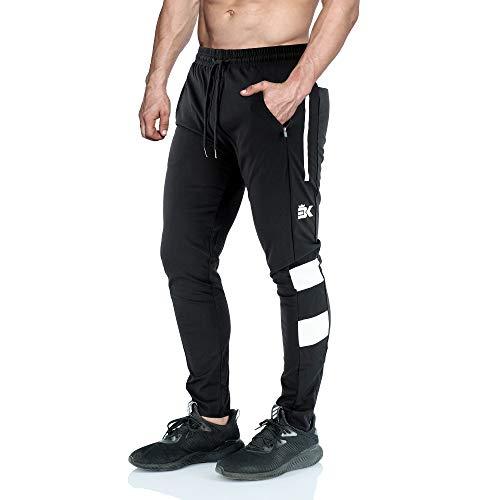 e7c64e17c1de6 BROKIG Men s Vapour Gym Jogger Pants Slim Fit Workout Running Sweatpants  with Zipper Pockets