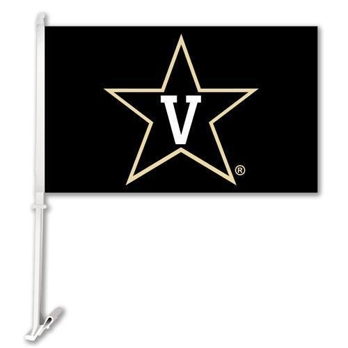 Collegiate / College / NCAA Vanderbilt Commodores Car Flag with Wall Brackett