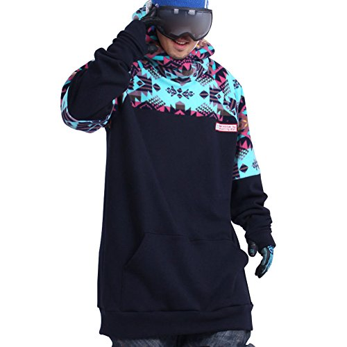 Shootingstar Men's Snowboard Ski Tall Hoodie
