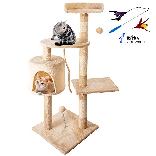 Masthome Cat Play Towers with Cat Wand Multi-level Cat...