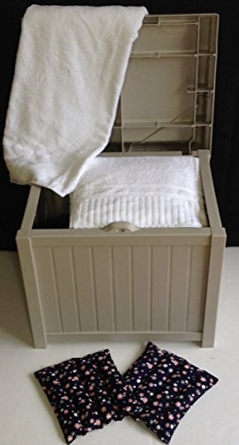 Hot Tub Towel And Robe Warmer/Deck Box with Microwavable Heat Pads