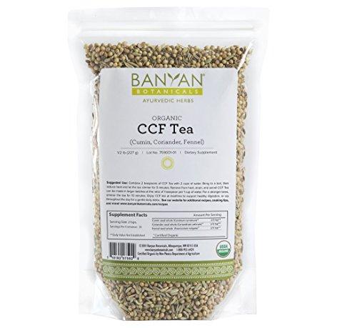 Banyan Botanicals CCF Tea (Cumin, Coriander, Fennel) - USDA Organic - Digestive Tea to Support Natural Detoxification* (1/2 - Tea Cookies Lime