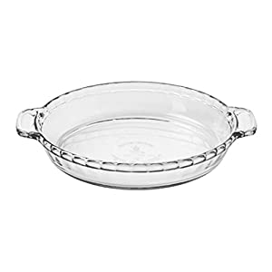 """Anchor Hocking 81214L11 Oven Basics Deep Pie Dish, 9.5"""", Clear"""