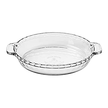 Anchor Hocking 81214L11 Oven Basics Deep Pie Dish, 9.5 , Clear