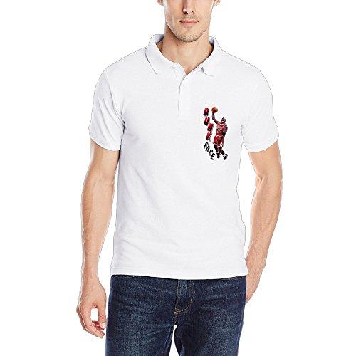 Michael Jordan Basketball Player Guys Screw Neck Polo Tshirts Size M Color White