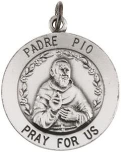 Padre Pio Pendant 925 Silver
