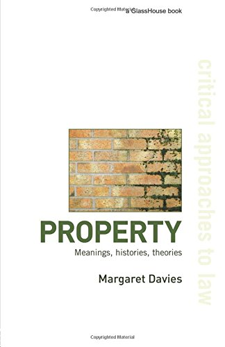 Property  Meanings Histories Theories  Critical Approaches To Law