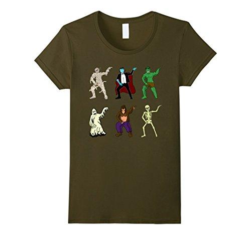 Womens Dabbing characters Halloween T-shirt Medium (Funny Female Movie Characters Halloween)