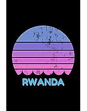 Rwanda: Vintage World Travel Keepsake Blank Lined Journal Notebook