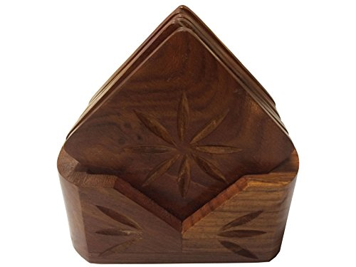 Wooden Drink Coaster Square Shaped, wooden Coaster set, Tea / Coffee Cup Holder,Gift your Valentine's on Special Day
