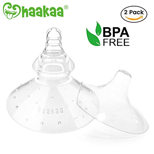 Haakaa Nipple Shield Silicone Nippleshields for Breastfeeding with Carry Case Super-Soft Gen 1 & Gen 2 Combo, ()