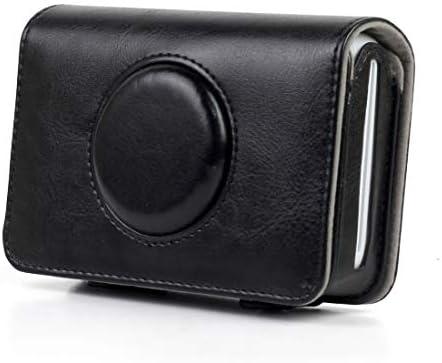 KMLP ポラロイドスナップタッチカメラのためのソリッドカラーPUレザーケース (色 : Black)
