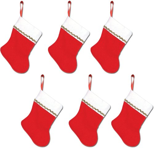 Mini Christmas Stockings - 6 inch (Pack Of 66) by Beistle (Image #1)