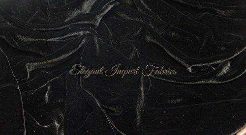 Black Silk Velvet Fabric 45