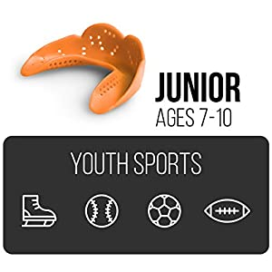 SISU Mouth Guards Junior 1.6mm Custom Fit Sports Mouthguard for Kids