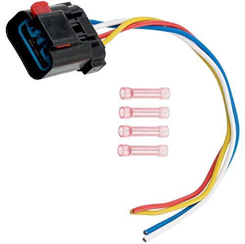 Direct Radiator - APDTY 013414-Harness 4-Wire Pigtail For Radiator Fan Control Relay (Note: If Melting Occurred, Radiator Fan, Relay & Harness Replacement Is Usually Also Neccesary, Replaces OE 4897034AA, 5013979AB)
