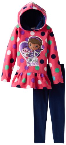 Disney Little Girls 2 Piece Doc Mcstuffins Fleece Legging Set