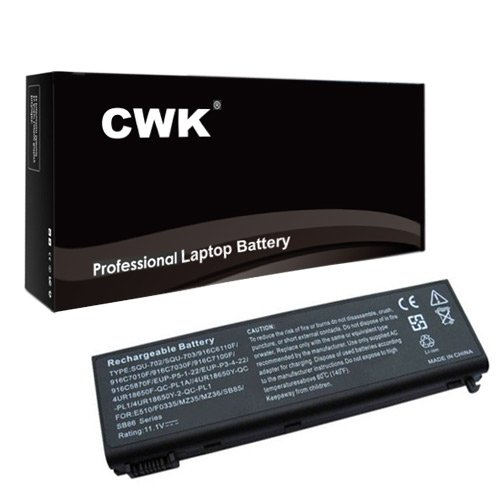 CWK New Replacement Laptop Notebook Battery for Packard Bell EasyNote F0335 F0336 F0336-V-089 MZ35 MZ36 Packard Bell EasyNote SB85 SB86 SB87 SB88-P-009 SB89-P-013 Replace Packard Bell EasyNote SB85 SB86 SB87 SB88 SB89 SQU-702 Replace SQU-702 eup-p3-4-22 for Packard Bell EasyNote MZ35 MZ36 PC (Laptop Packard Accessories Bell)