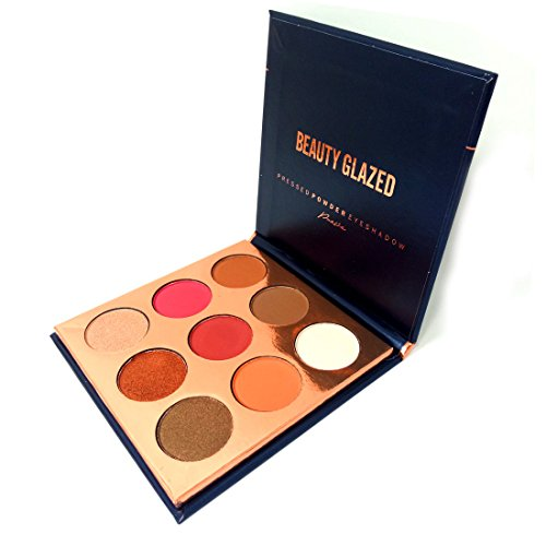 Beauty Glazed Eyeshadow Palette 9 Colors Bronze Powder Make Up Waterproof Eye Shadow Palette (Perfect 10 Eye Palette)
