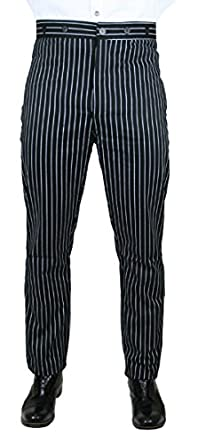 Edwardian Men's Pants, Trousers, Overalls Striped Dress Trousers $62.95 AT vintagedancer.com