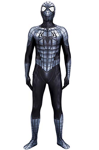 Black Armour Spiderman Halloween Cosplay Costume Armour Spiderman Suit (X-Large)]()