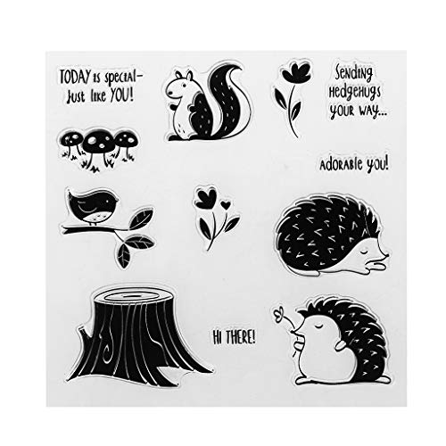 ShapeW Animals with Words Transparent Stamps Silicone Stamps Clear Stamps for DIY Scrapbooking Card Cards Making Photo Album Decorative