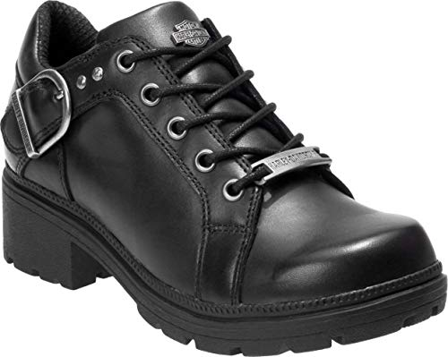 Harley-Davidson Women's Rovana 3-Inch Casual Ankle Boots D84407 (Black, 8)