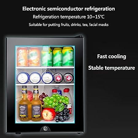 Vinoteca Mini Nevera 12 Botellas, 40 Litros de Capacidad,temperatura Regulable, Rango de Temperatura: 10 ~ 15 ℃,Estante Desmontable con Cerradura de Seguridad 70 W [Clase de Eficiencia Energética B]