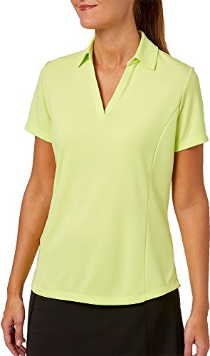 Dog Womens Golf Shirt - Lady Hagen Women's New Essentials Golf Polo (Green Electric/Medium)