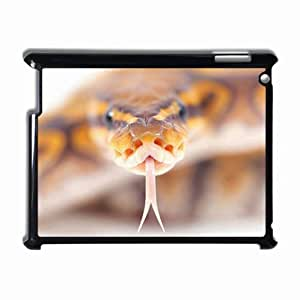 Customized Back Cover Case For iPad 2 3 4 Hardshell Case, Black Back Cover Design Snake Personalized Unique Case For iPad 2