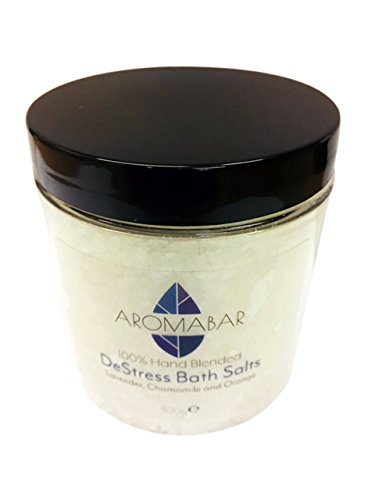 De-Stress Dead Sea Bath Salts Soak 300g With Lavender, Chamomile & Sweet Orange Essential Oils Aromabar