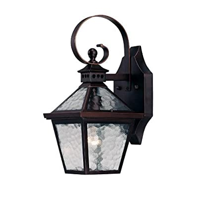 Acclaim 7652ABZ Bay Street Collection 1-Light Wall Mount Outdoor Light Fixture, Architectural Bronze by Acclaim