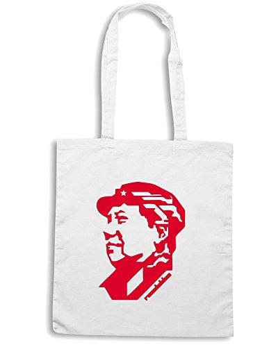 T-Shirtshock - Bolsa para la compra TCO0121 mao tse tung Blanco