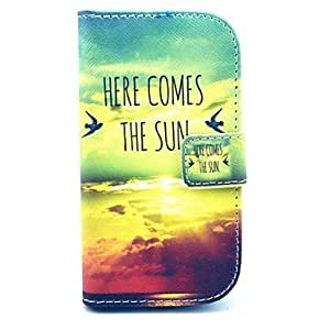 QYF Samsung S3 Mini I8190N compatible Graphic/Special Design PU Leather Full Body Cases/Cases with Stand