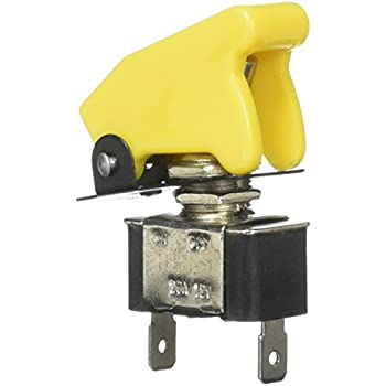 Yellow Kit Car Rally Cover With On Off Metal Toggle Switch