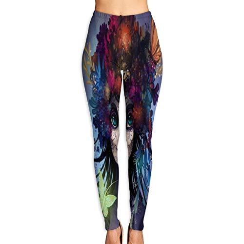 Bei Tang Womens Yoga Pants Sugar Skull by Flying-Fox Slim Fit Leggings Workout Pant ()