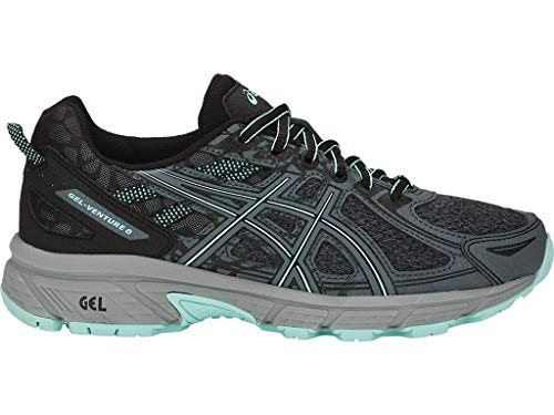 ASICS Women's Gel-Venture 6 MX Running Shoes, 9M, Black/ICY Morning
