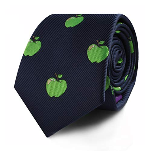 Apple Lover Apple Farmer Tie for Him | Apples Skinny Neckties | Present for Work Colleague | Bday Gift for Guys (Apple)