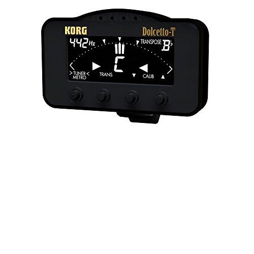 KORG Dolcetto AW-3T, Clip-On Stimmgerät / Tuner und Metronom für Trompete und Posaune, schwarz