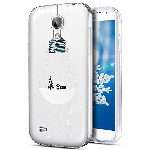 Funda Galaxy S4?SainCat Navidad copo de nieve serie Moda Alta Calidad suave de TPU Silicona Suave Funda Carcasa Caso Parachoques Diseño pintado Patrón paraSamsung Galaxy S4 [Serie de Navidad] TPU Sili Luz electrica