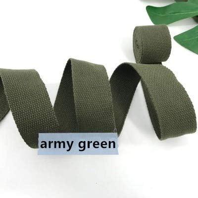 Olive Green 38mm Cotton Webbing Tape Strapping 1.5 Inch Belt Strap Bag Making