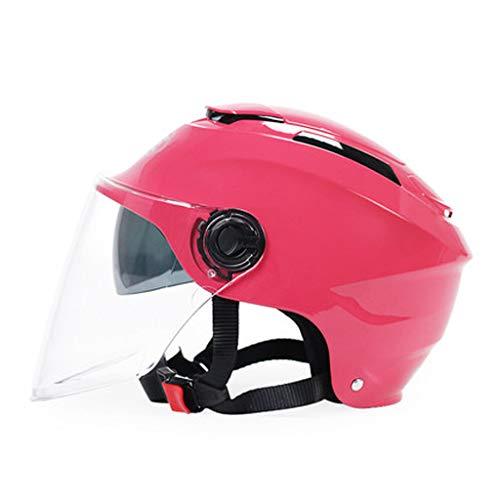 HJL Casco eléctrico de la Motocicleta Personalidad Protector Solar Lente Doble Hombres y Mujeres Cuatro Estaciones Universal...