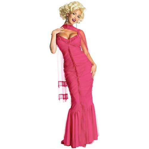 Secret Wishes Womens Marilyn Monroe Dress, Pink, Medium