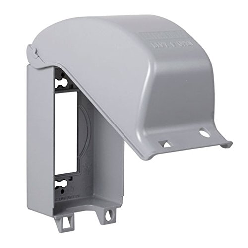 TayMac MX3200 One Gang Vertical In Use Metal Weatherproof Receptacle Cover ()