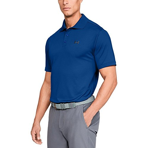 Golf Plain Performance Polo - Under Armour Men's Performance Polo, Royal (402)/Rhino Gray, Small