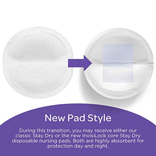 Lansinoh Stay Dry Disposable Nursing Pads for Breastfeeding, 200 Count