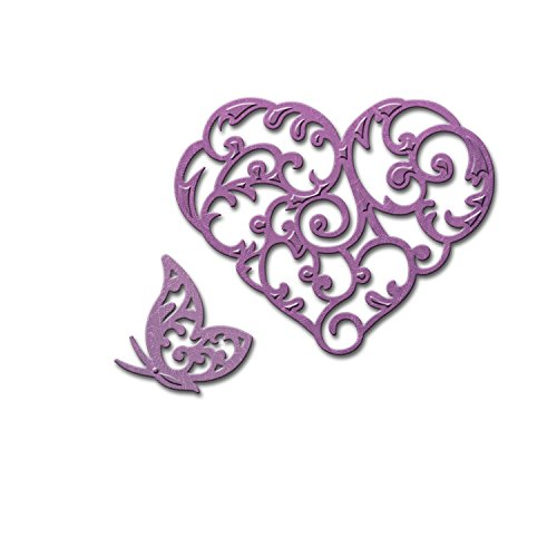 Spellbinders S2-150 Die D-Lites Heart and Flutter Etched/Wafer Thin Dies